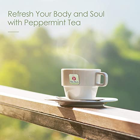 Amazon.com : Refreshing Tea, POMPADOUR Pure Peppermint Energize Herbal Tea Bags Premium Caffeine-Free Minty Metabolism Booster Tea for Focus, Natural Weight ...