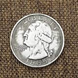 MarshLing Best Morgan US Dollars-1865 Years US Coins -Old USA Coins - US Dollar USA Old Original Pre Morgan Dollar Perfect Quality
