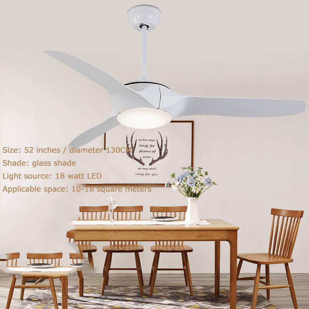 フラッシュマウント天井扇風機、トラディショナルコンセプトLEDフラッシュマウント、リモコン3プラスチックファン扇風機+照明+反転白52インチ   B07S3FHDXT