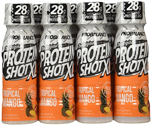 ProBalance The Original Protein Shot XL, Tropical Mango 3 fluid Ounce, 12 Count