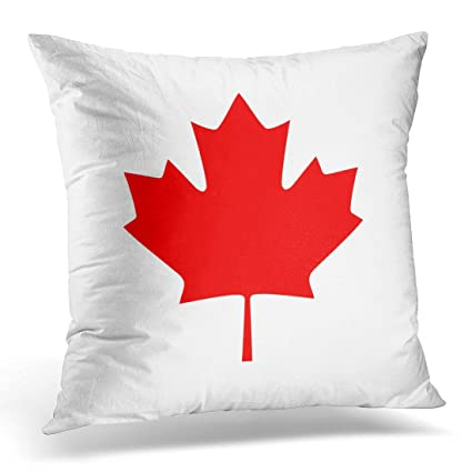 Amazon Emvency Throw Pillow Covers Red America Canada Maple Custom Decor Pillows Canada