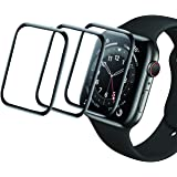 Xinidc [3 Pack] Screen Protector Compatible for Apple Watch 44mm Series 4/5/6/SE,3D Full Coverage Flexible Soft Protective Fi