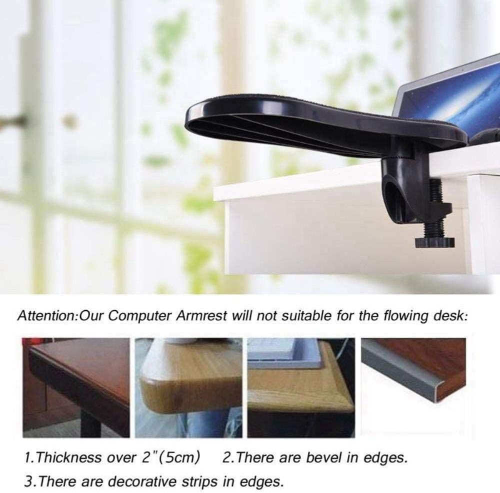 Rotating Computer Arm Rest Pad Desk Attachable Home Office Mouse Pad Health Care A Ergonomic Adjustable PC Wrist Rest Extender