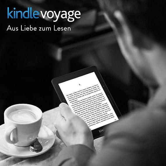 Kindle Voyage, Zertifiziert und generalüberholt, 15,2 cm (6 Zoll) hochauflösendes Display (300 ppi) mit integriertem intelligenten Frontlicht, PagePress-Sensoren, WLAN