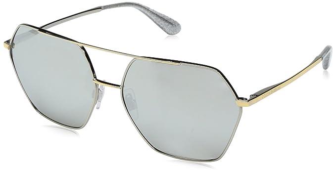 Dolce & Gabbana 0Dg2157 Gafas de sol, Silver/Gold, 59 para ...