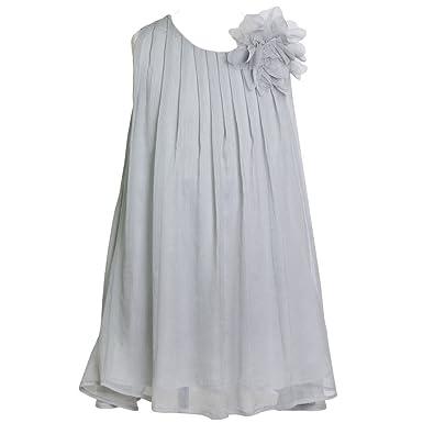 Amazon Com Calla Collection Big Girls Silver Pretty Chiffon Junior