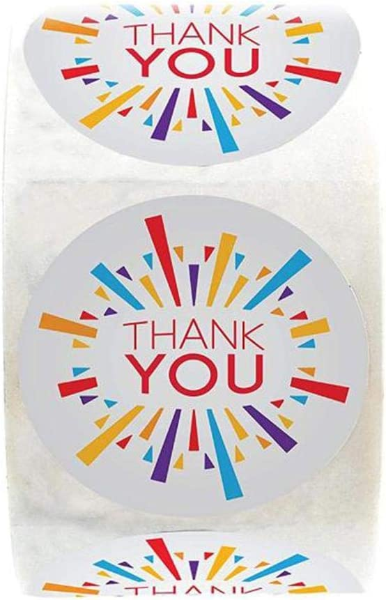 Batteraw Round Floral Thank You Gift Tags Seals Stickers Wedding Party Packaging Labels Labels /& Stickers