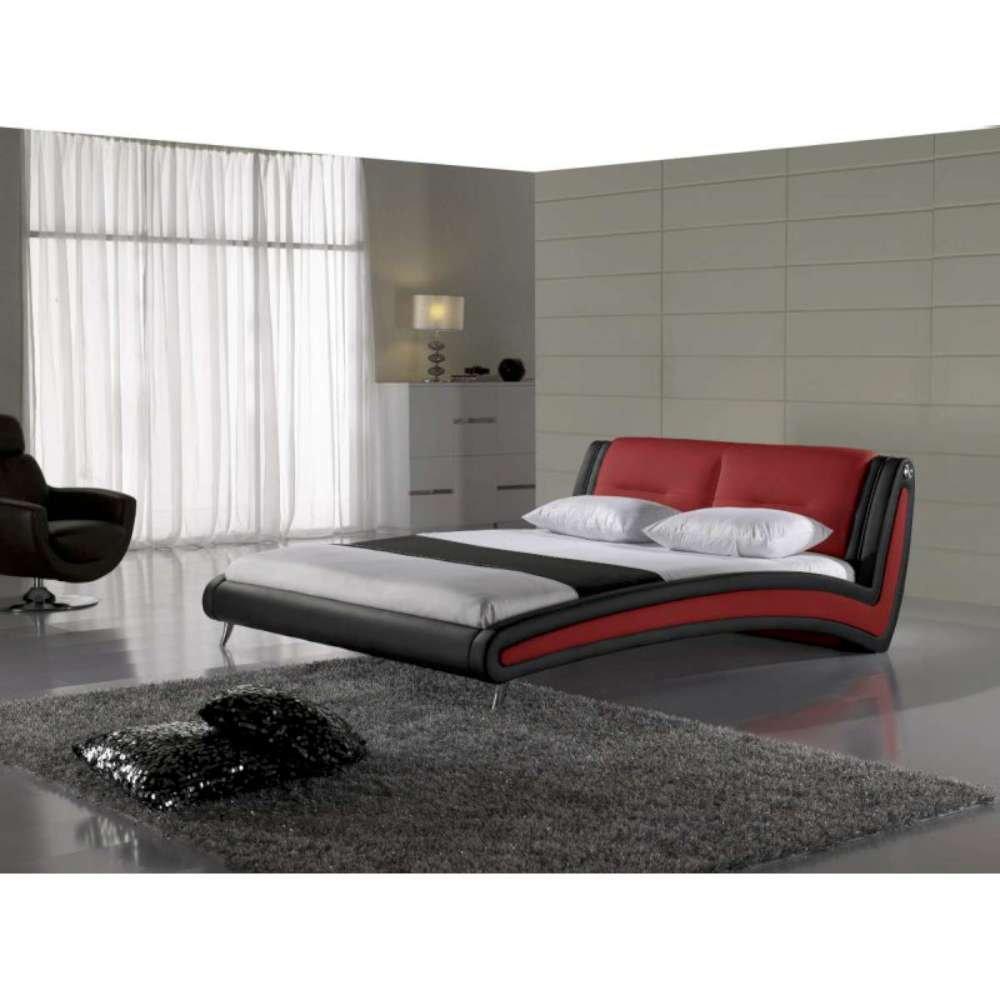 JUSThome Swing Rot Polsterbett Doppelbett Ehebett Ecoleder 160x200 cm
