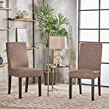 Heath Taupe Fabric Dining Chairs (Set of 2)
