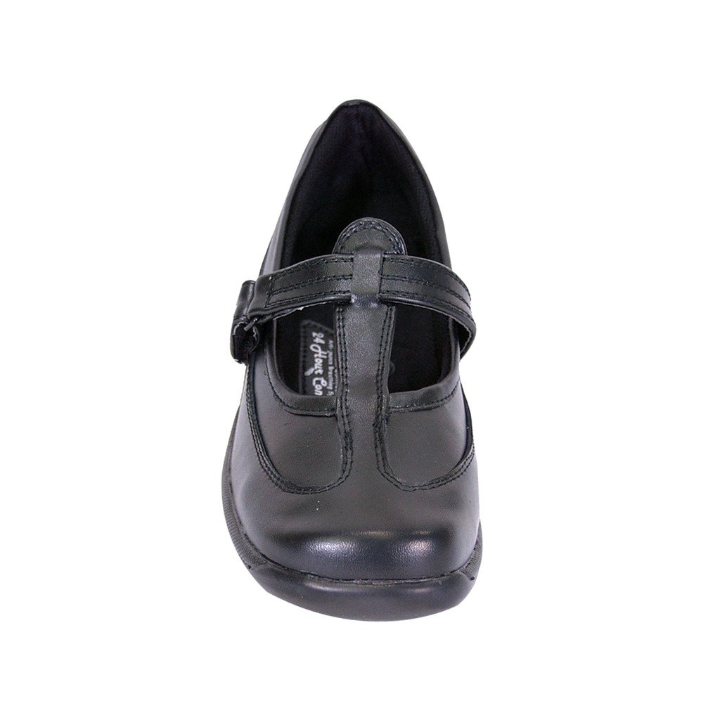 24 Hour Comfort  Liz (2008) Women Extra Wide Width Leather T-Strap Mary Janes Black 7.5 by 24 Hour Comfort (Image #3)