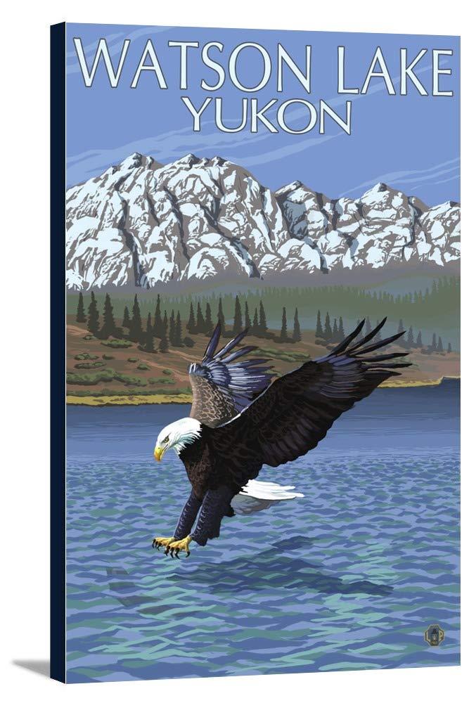ワトソン湖、ユーコン – イーグル釣り 24 x 36 Gallery Canvas LANT-3P-SC-20409-24x36   B0184AGVI2