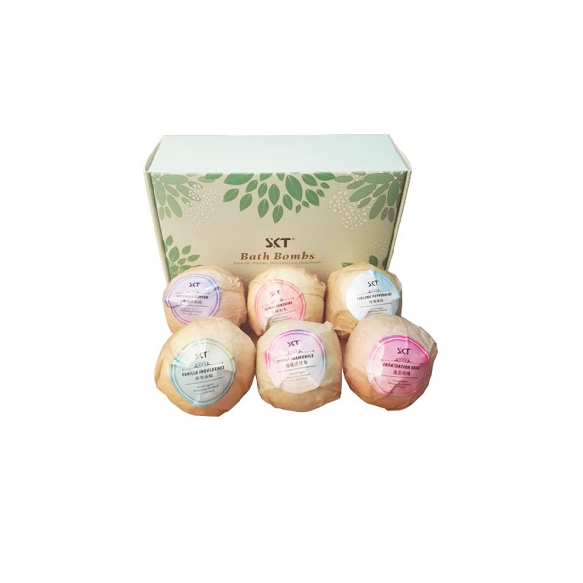 Bluesnow 6 Natural Essential Oil Bath Bomb Gift Set Dry Skin Moisturize Perfect for Bubble and Spa Bath for Women Mom Wife Girls Teens
