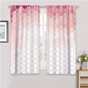 Amazon.com: Light Pink Blackout Window Curtains Hexagon ...