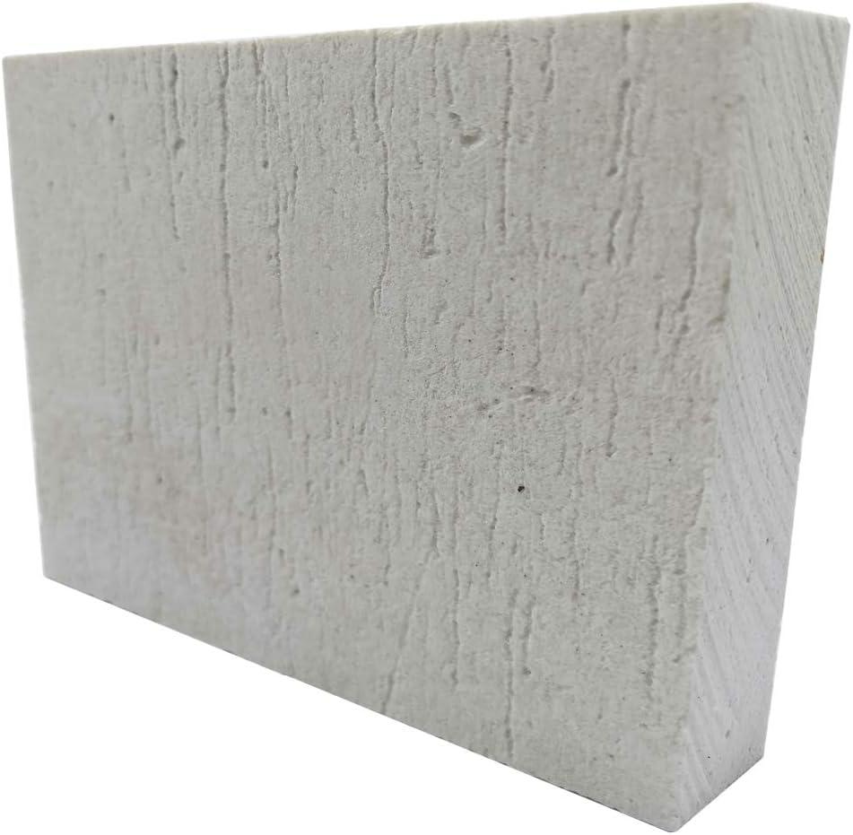 BXI Ceramic Fiber Thermal Insulation Board (2732F) - Inorganic - Flame Retardant, Heat Resistant (12'' X 8'' X 0.8'')