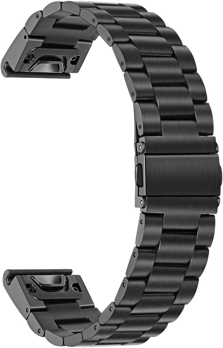 TRUMiRR Compatible Garmin Fenix 5 Bandas de Reloj, 22mm Correa de Reloj de Metal de Acero Inoxidable Quick Release Easy Fit Banda de Reloj para Garmin Fenix 5 Plus/Forerunner 935/Approach S60