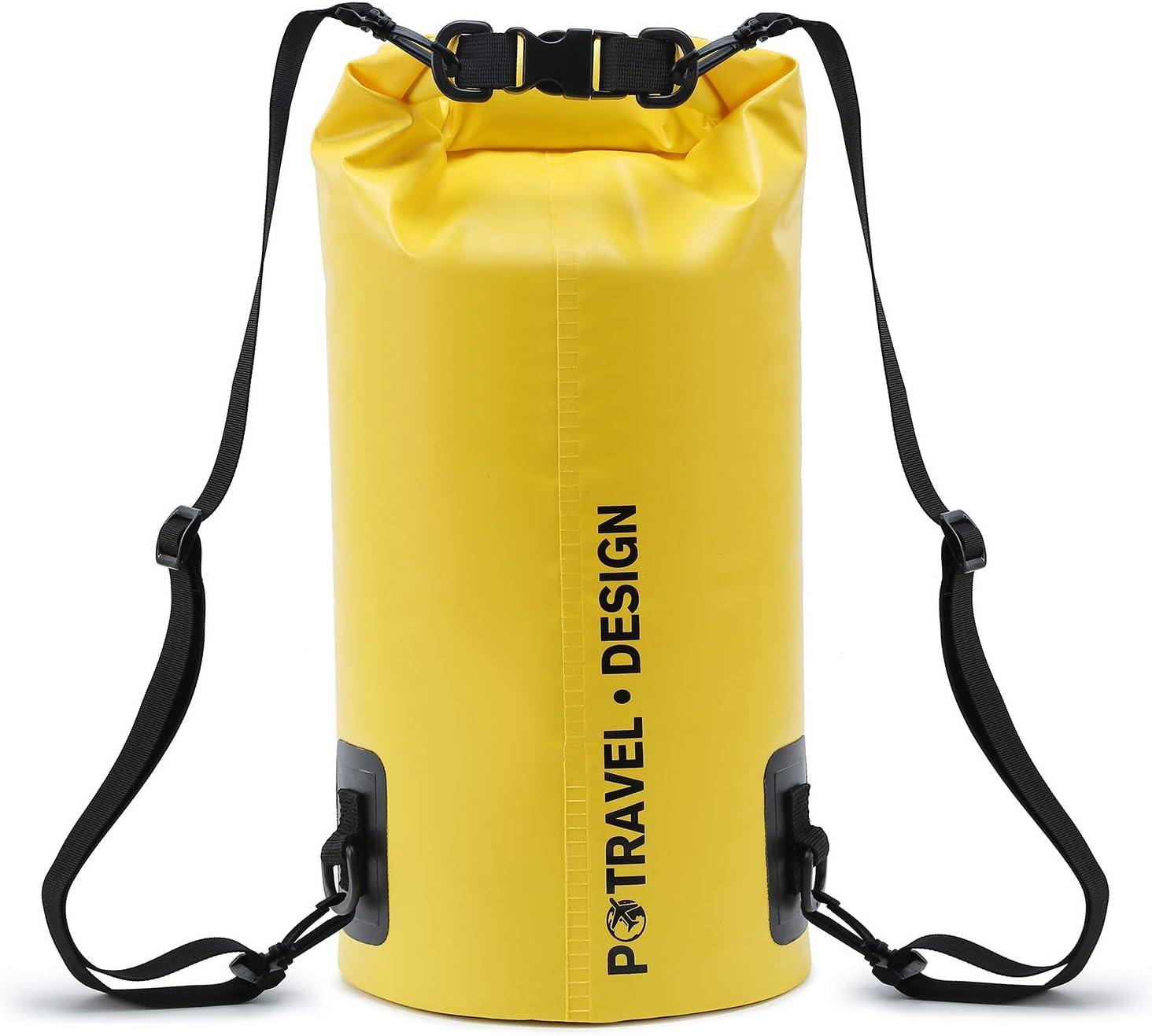 Gsultron Swimming Rafting Bag PVC Waterproof Backpack Travel Storage Beach Bag Outdoor Pool Drifting Kayak Gear