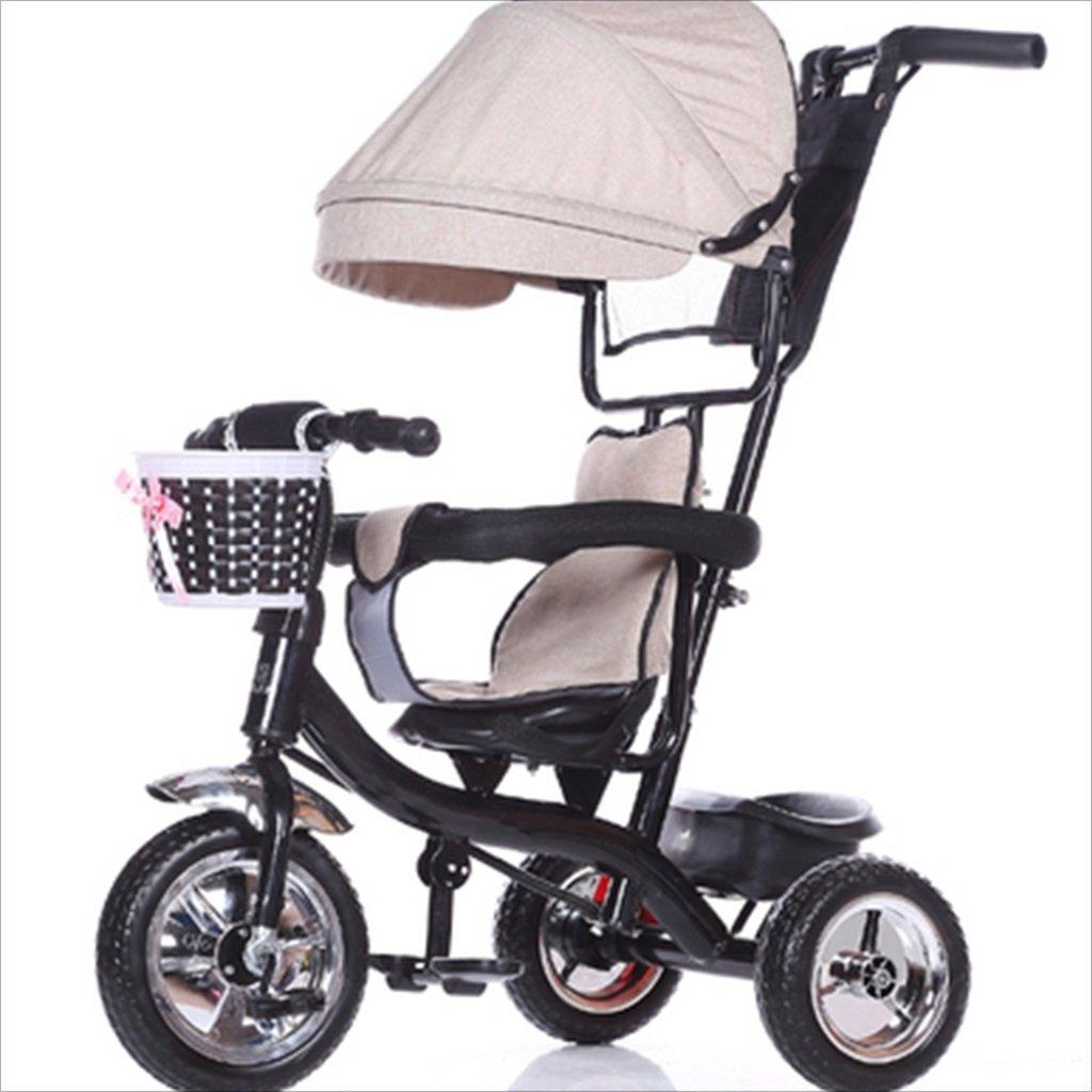 子供の屋内屋外の小さな三輪車自転車の男の子の自転車の自転車6ヶ月-6歳の赤ちゃん3つのホイールトロリー天井、固体プラスチックホイール (色 : 3) B07DVDHWGB 3 3