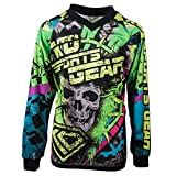 KO Sports Gear Motocross Off Road Motorcyle Jersey Skull Design - All Over Design