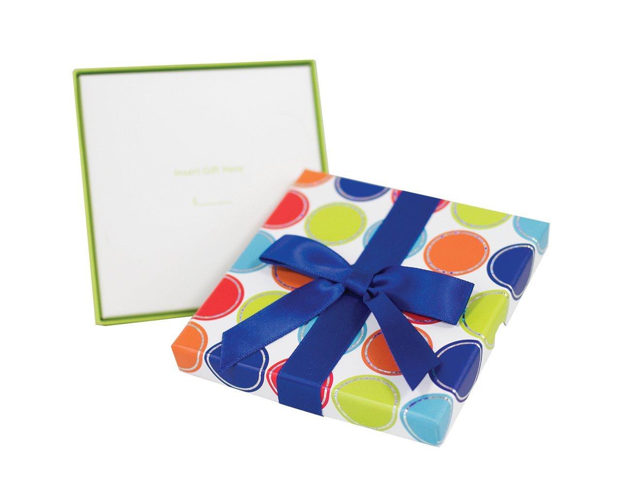 Small Thin Lidded Box Multicircles Gift Card Impressions LLC