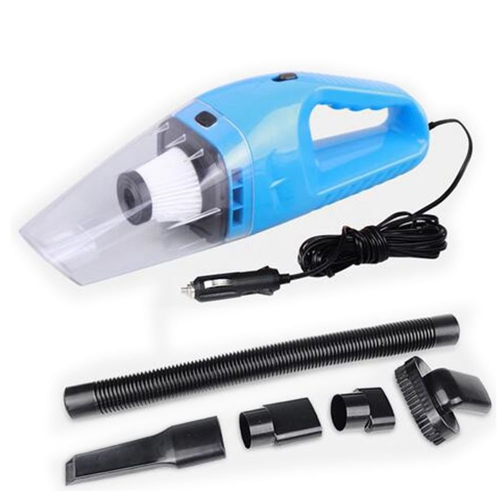 120W Car Vacuum Cleaner High Power Portable Lightweight Wet & Dry Auto Handheld Vacuum 16.4 FT(5M) Power Cable(blue)