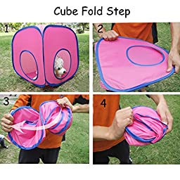 Creation Core Funny Collapsible Kitty Cats Small Pets Various Combinations Tunnel Cube Cat Toy(3Cube+2Tunnel)