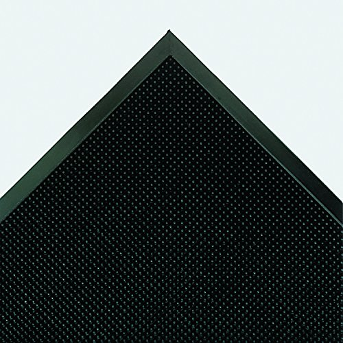 Crown MAFG62BK Mat-A-Dor Entrance/Antifatigue Mat, Rubber, 36 x 72, Black Rubber Fingertip Mats