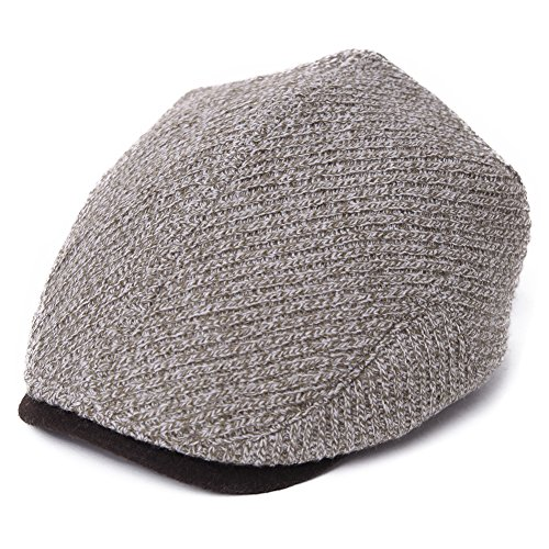 SIGGI Mens newsboy Cap Winter Hat Elastic Adjustable IVY Flat Cap Gatsby Lined