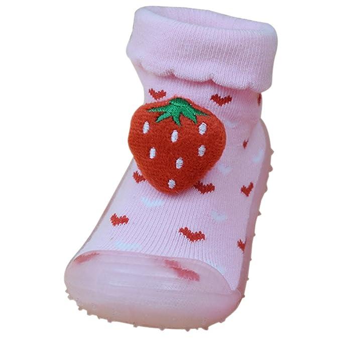 KINDOYO Invierno Calcetines Zapatillas para Bebés Niña Niño Antideslizantes Algodón Calentar Lindo Calcetines Zapatos 11-14.5CM, 3 Estilo: Amazon.es: Ropa y ...