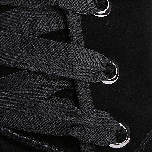 Nine Boots mujer negro Botas SevenMid calf Cw0xCqUP