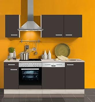 Küchenblock Mit Geschirrspüler Und Glaskeramikkochfeld Faro 210 Cm