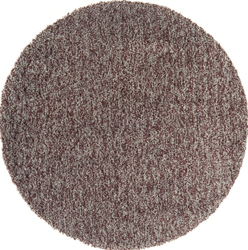 (Continental Rug Company Cloud Shag Collection Mix Pile Super Plush Shag Round Area Rug, 5-Feet by 5-Feet, Chocolate/Blue )