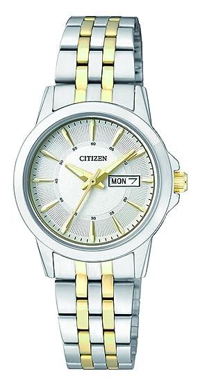Citizen – Reloj de Pulsera analógico para Mujer Cuarzo Acero Inoxidable eq0608 – 55 Ae