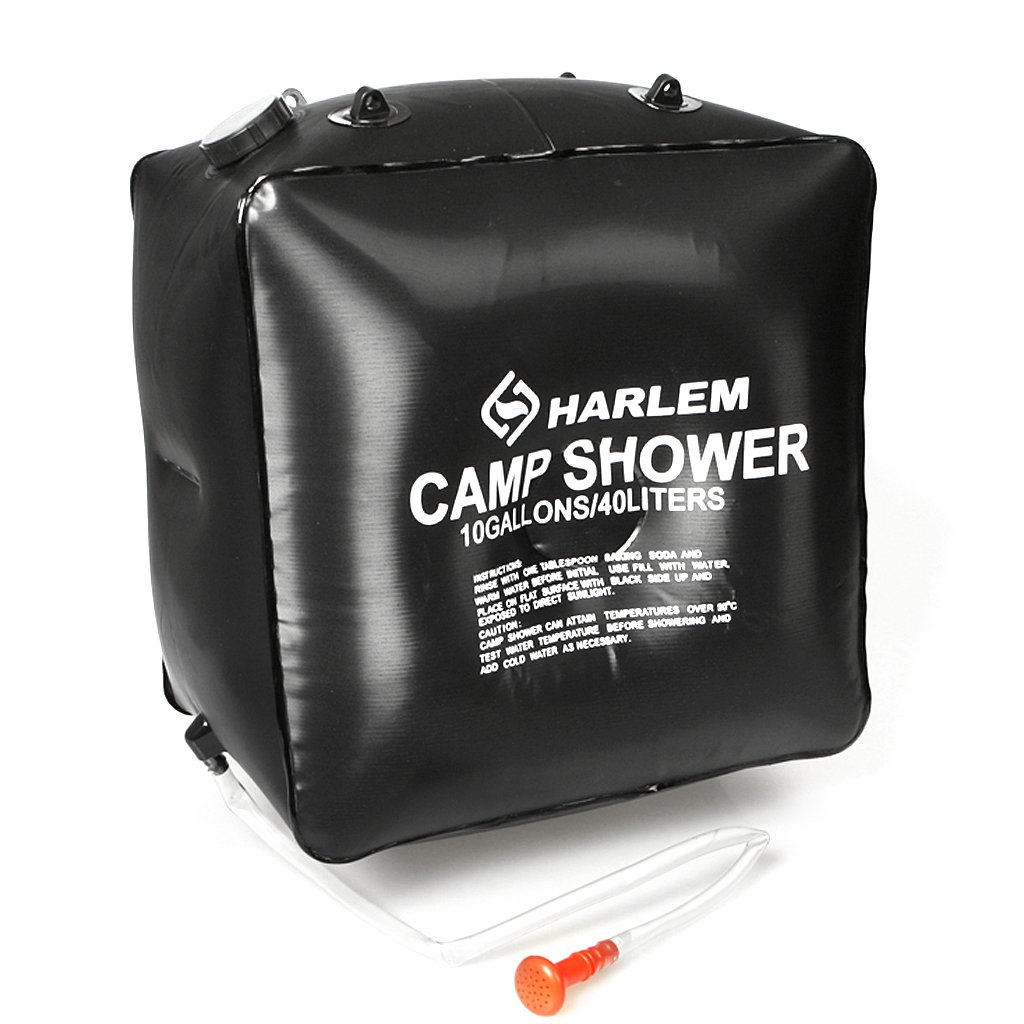 10Gallons 40L Camp Camping Hiking Shower Bag Case Solar Heating / Non Toxic PVC Material, Includes Cord for Hanging--40 Litre Capacity for 8 Minutes Shower by Generic