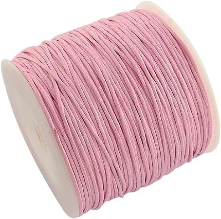 La attrape-rêve cordón rosa (algodón encerado, grosor 1 mm, longitud 5 metros patines en Francia Metropolitana: Amazon.es: Hogar