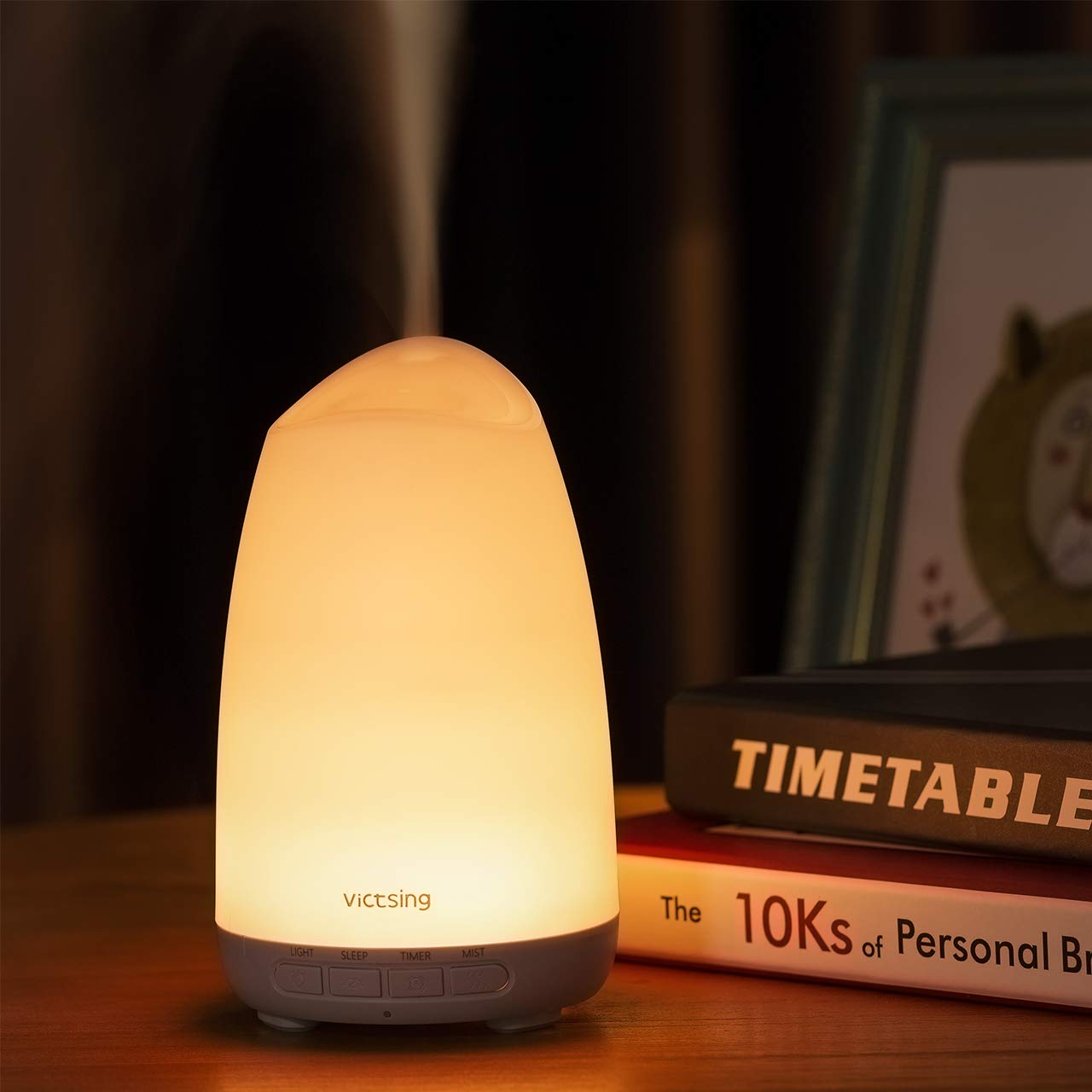 VICTSING Diffuseur d'huile Essentielle 150ml Mini Diffuseur ultrasonique Aroma avec Mode de Sommeil Unique, Conception de Réduction du Bruit, Lumière de 8 Couleurs product image