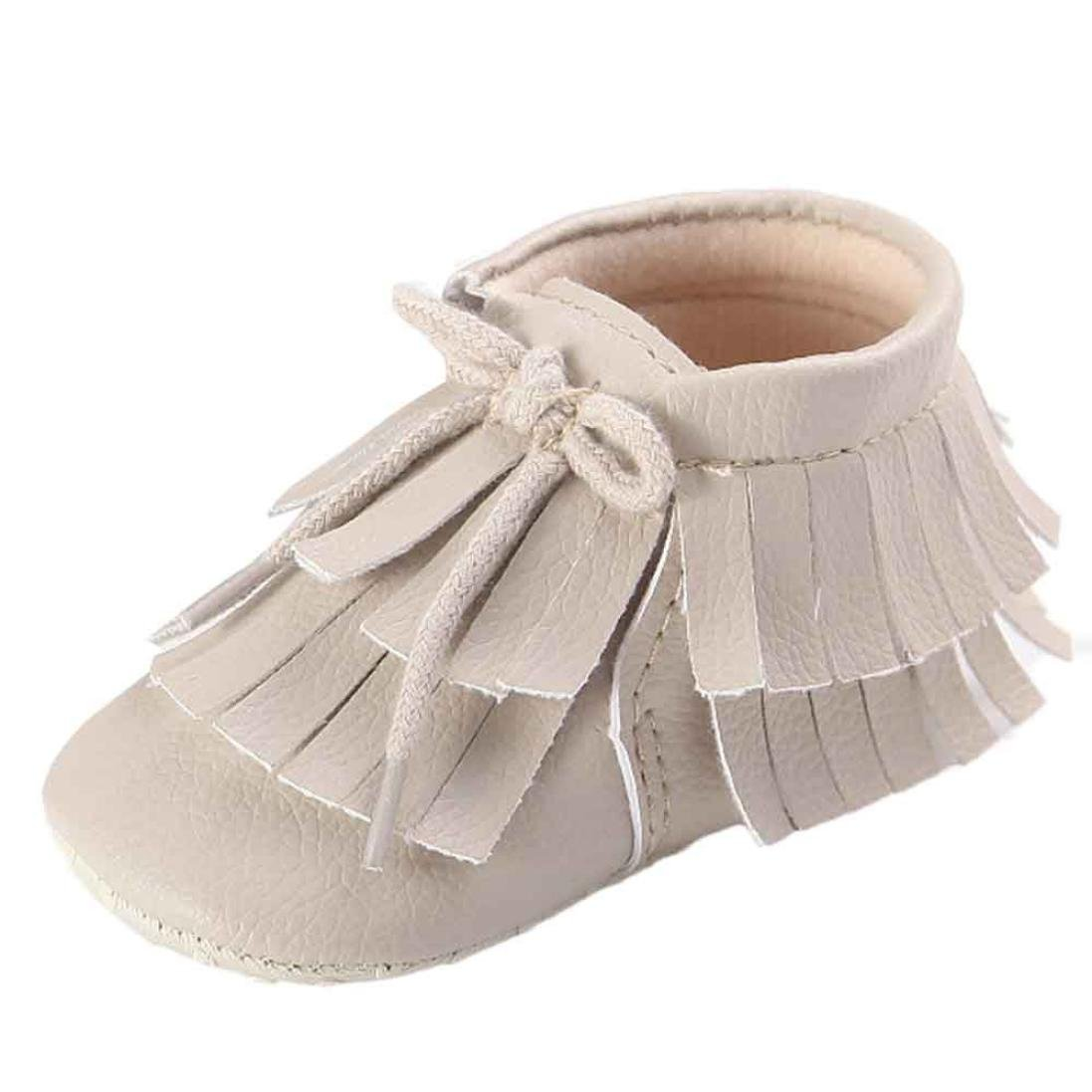 Voberry Toddler Baby Girls Boys Sneaker Toddler Double-Deck Tassels Lace up Moccasins
