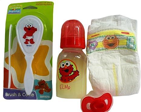 3 Diapers UNISEX Reborn Baby Doll Sesame Street Pamper Set Boy Girl Diaper OOAK