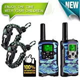 #8: Walkie Talkies for Kids 22 Channel 2 Way Radio 3 Mile Long Range Ingenious Communication Gadget Preventing Myopia Toys Best Birthday Gifts for 6 year old Girls Fit Outdoor Adventure Game (Blue camo)