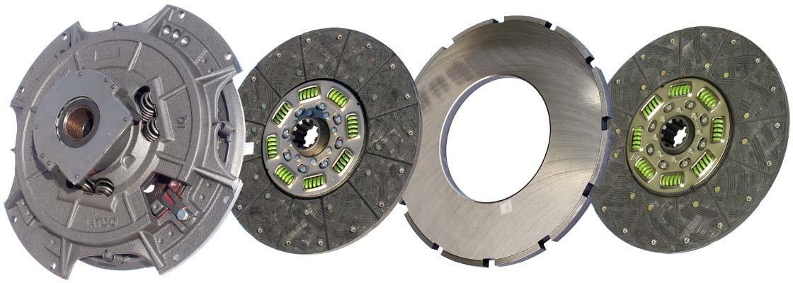IATCO 107035-32-IAT 14'' x 1-3/4'' Angle Spring Clutch (Two-Plate, Organic / 8-Spring, 3200 Plate Load / 1000 Torque) by IATCO