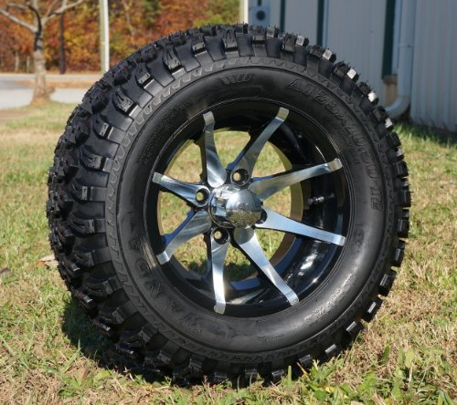 and Tires Combo Set of 4 Machined/Black w/ All Terrain Tires ()