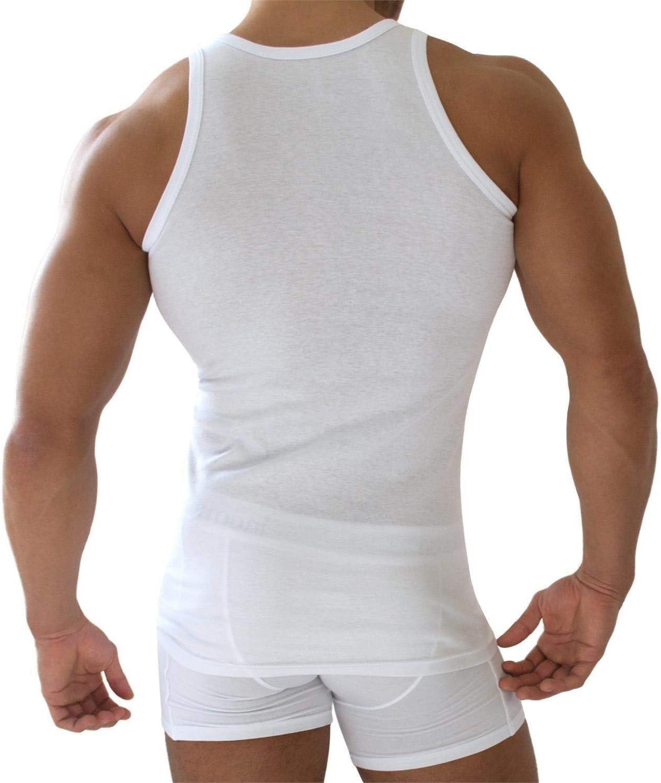 - Sportjacke Original Exclusive normani 5 x Tank Top Wei/ß Herren Unterhemd Feinripp 100/% gek/ämmte Baumwolle einlaufvorbehandelt glatt