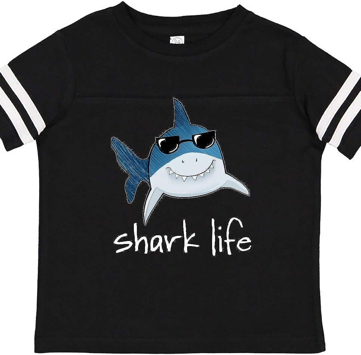 inktastic Shark Life Fun Shark with Sunglasses Toddler T-Shirt
