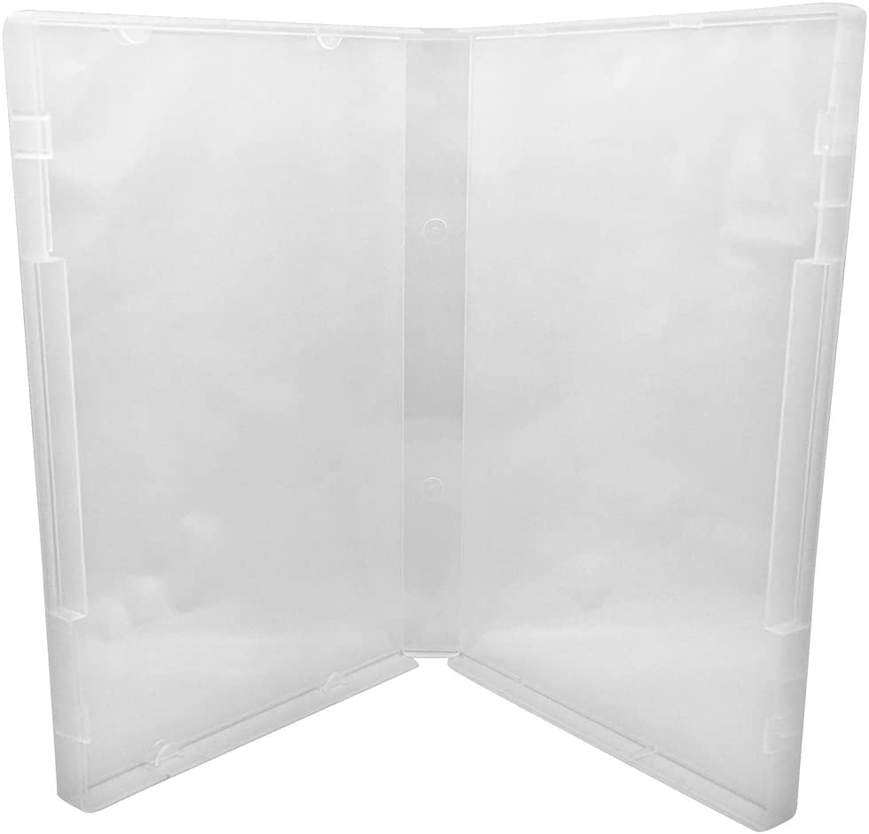Clear//Spine: 14 mm // 8 Tabs 50 CheckOutStore Plastic Storage Cases for Rubber Stamps