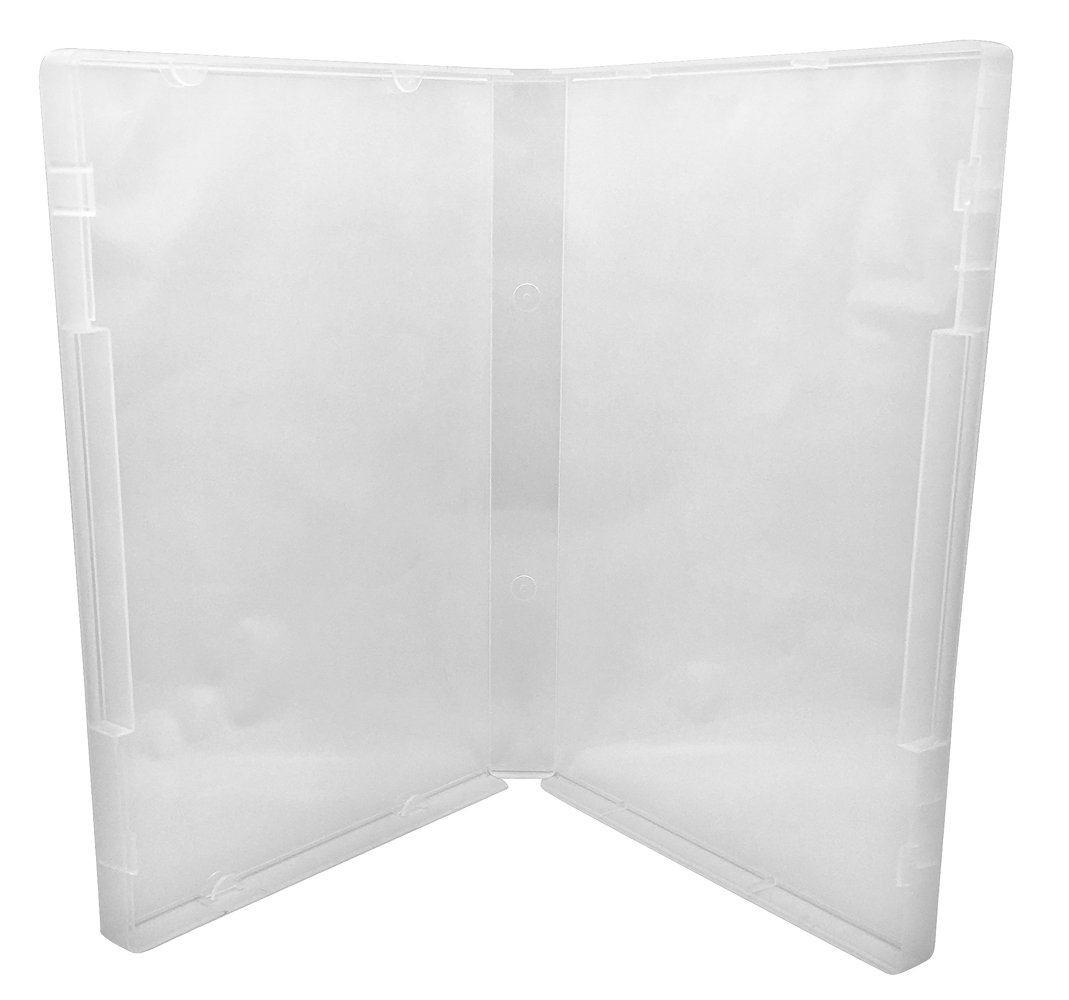 (10) CheckOutStore Plastic Storage Cases for Rubber Stamps (Clear/Spine: 21 mm / 4 Tabs)