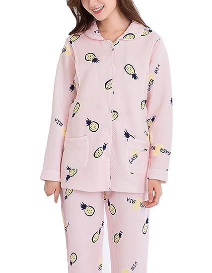 9e418e5a57 Womens Ultra Soft Maternity Nursing Pajama Sleepwear Set Breastfeeding for  Hospital Pink at Amazon Women s Clothing store