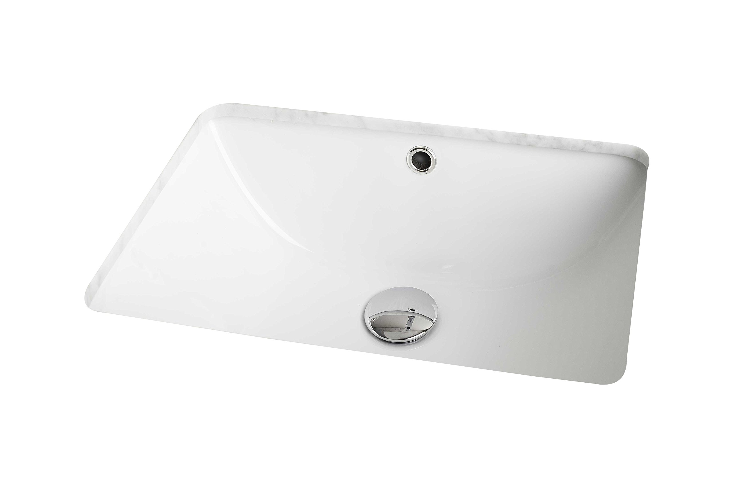 Jade Bath JB-536 18.25'' W x 13.75'' D CUPC Certified Rectangle Undermount Sink, White by Jade Bath