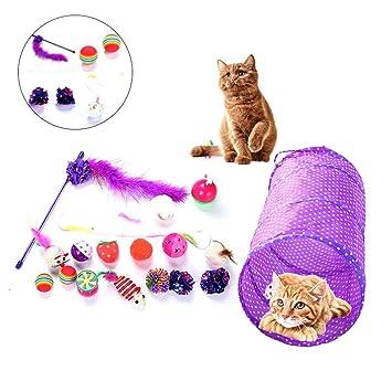 AOLVO - Juguete para Gatos, Juego Interactivo para Gatos, Juego de Juguetes Divertidos,