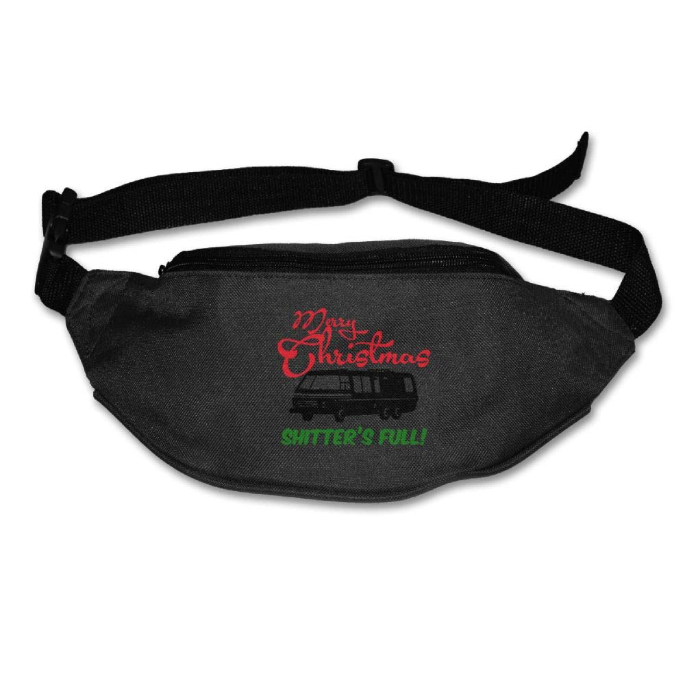 Ada Kitto Shitter's Full Mens&Womens Lightweight Travel Waist Bag For Running And Cycling Black One Size