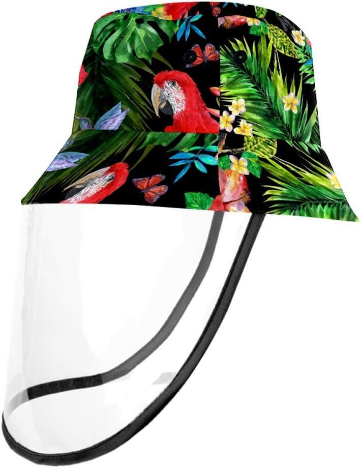 LKJDF - Sombrero para bebé con protección UV y sol, transpirable, diseño de pájaros y flores