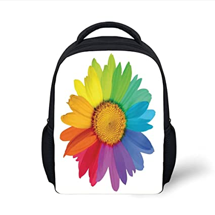 d81af9273fca Amazon.com: iPrint Kids School Backpack Floral,Rainbow Colored ...